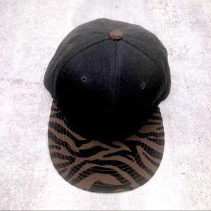 Mens Fashion Black Baseball Cap Hat Snap Back